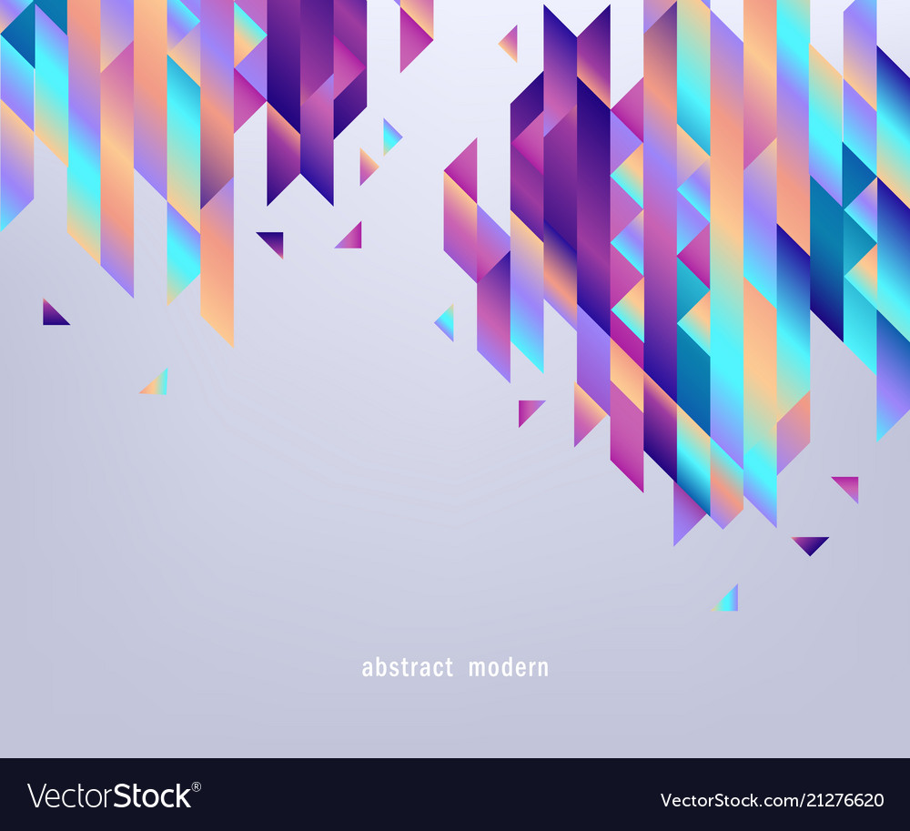 Modern banner with gradient bright colorful