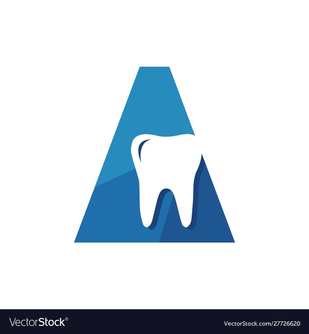 New dentist stomatology dental clinic logo on the