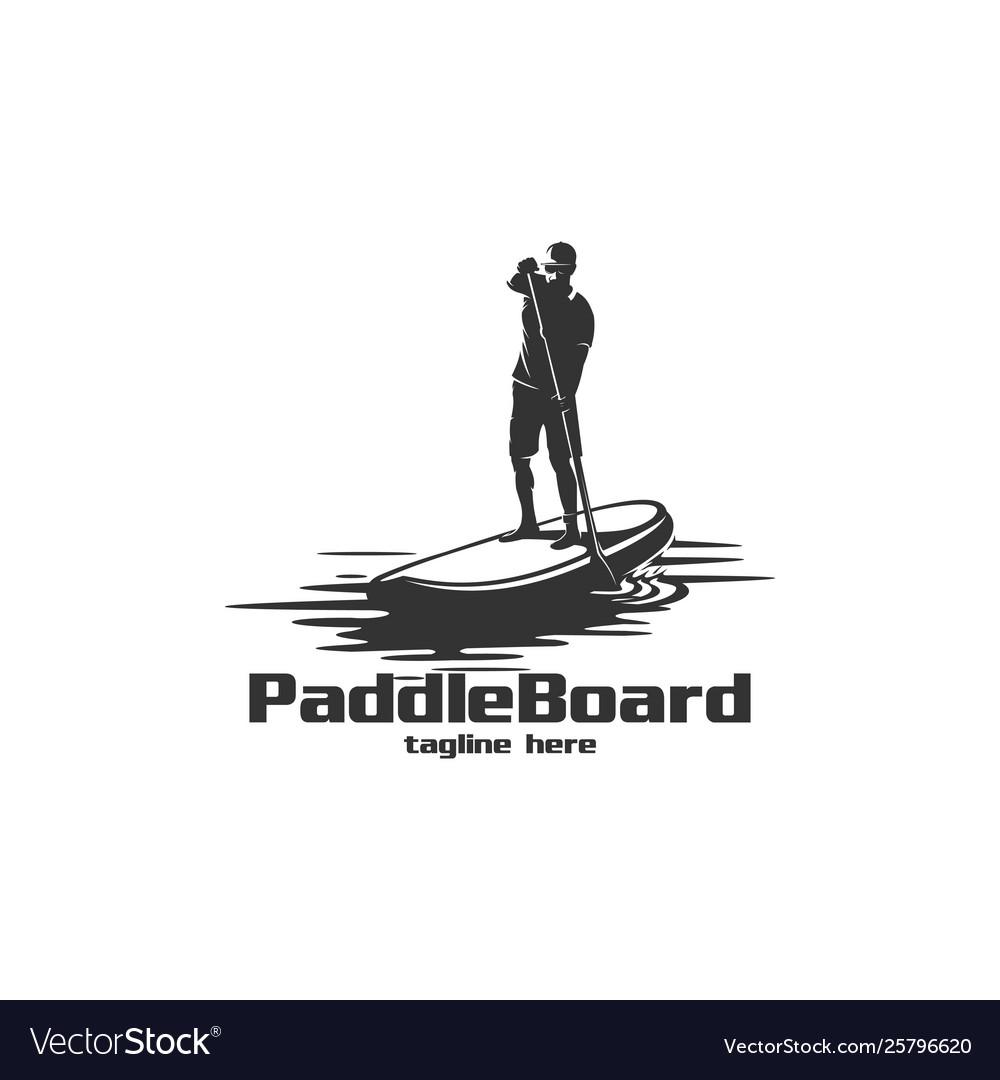 Paddle board silhouette logo