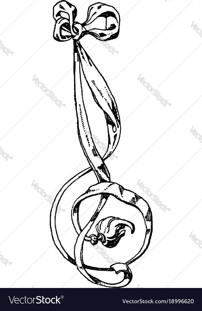 Tassel ribbon comes from jost ammans wappen vector image