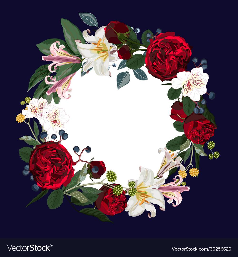 Wreath frame border