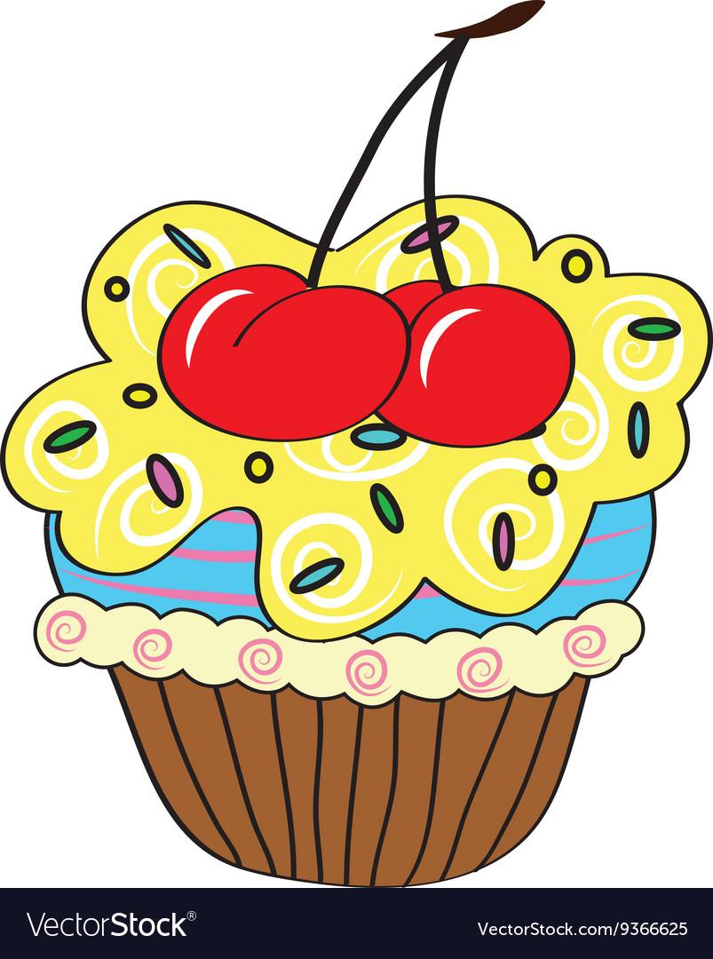Cartoon cupcake simple