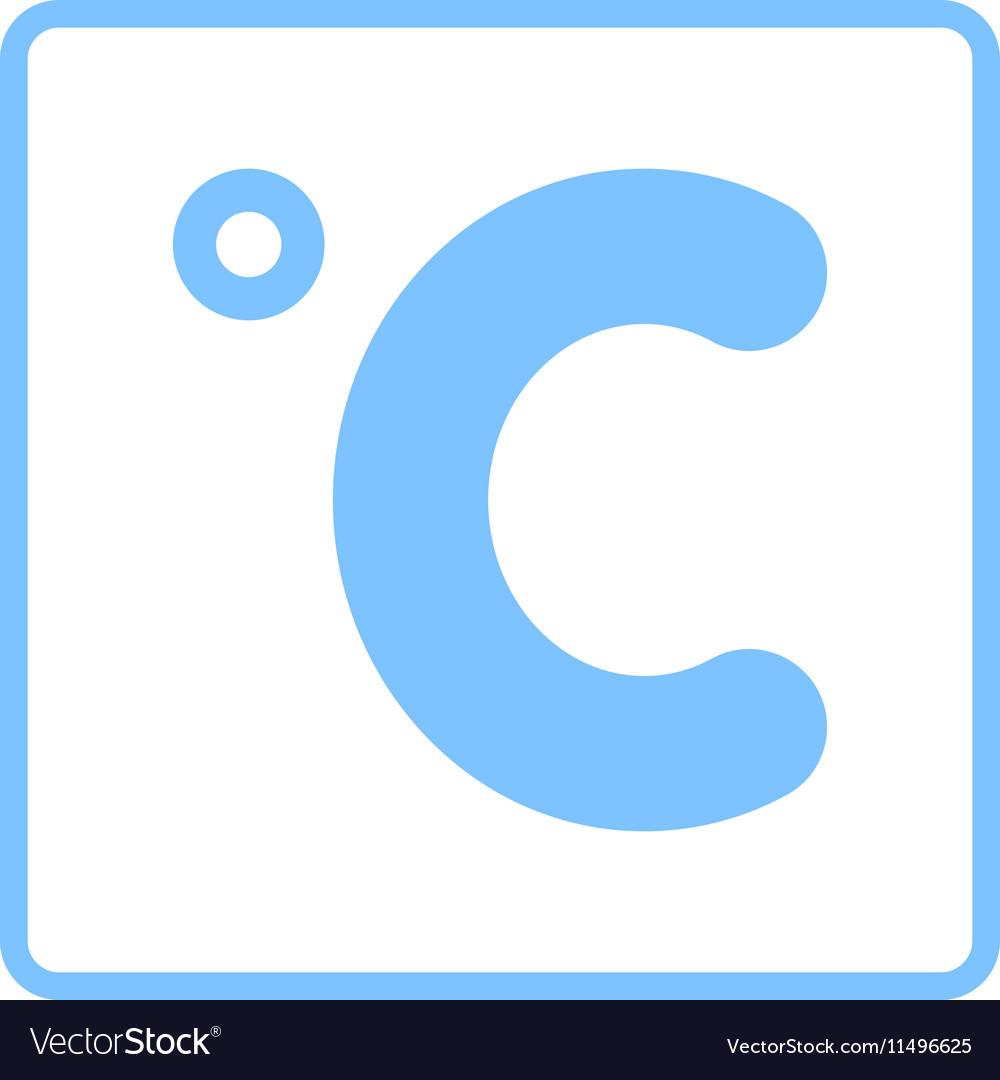 Celsius Degree Icon Royalty Free Vector Image Vectorstock