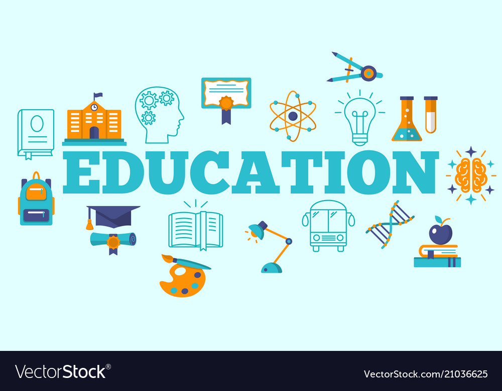 Education horizontal poster