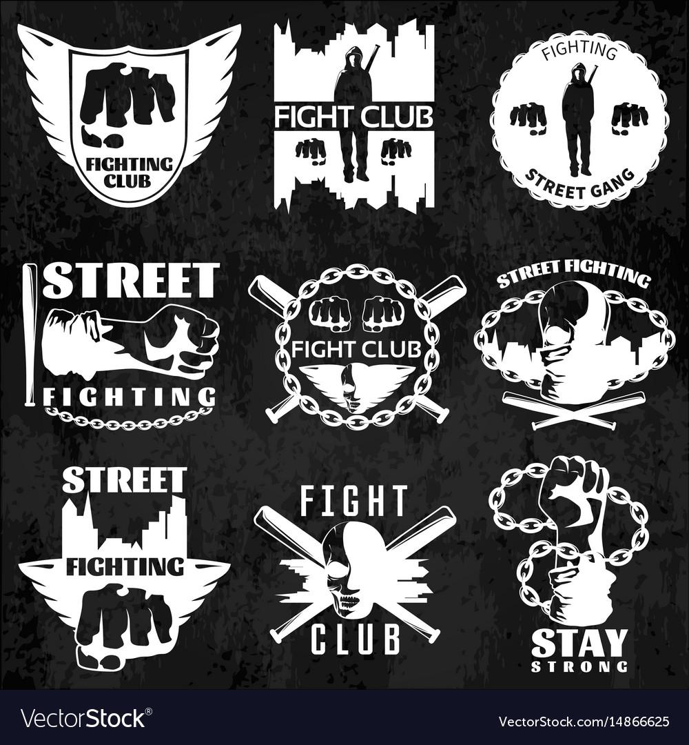 Fight clubs emblems