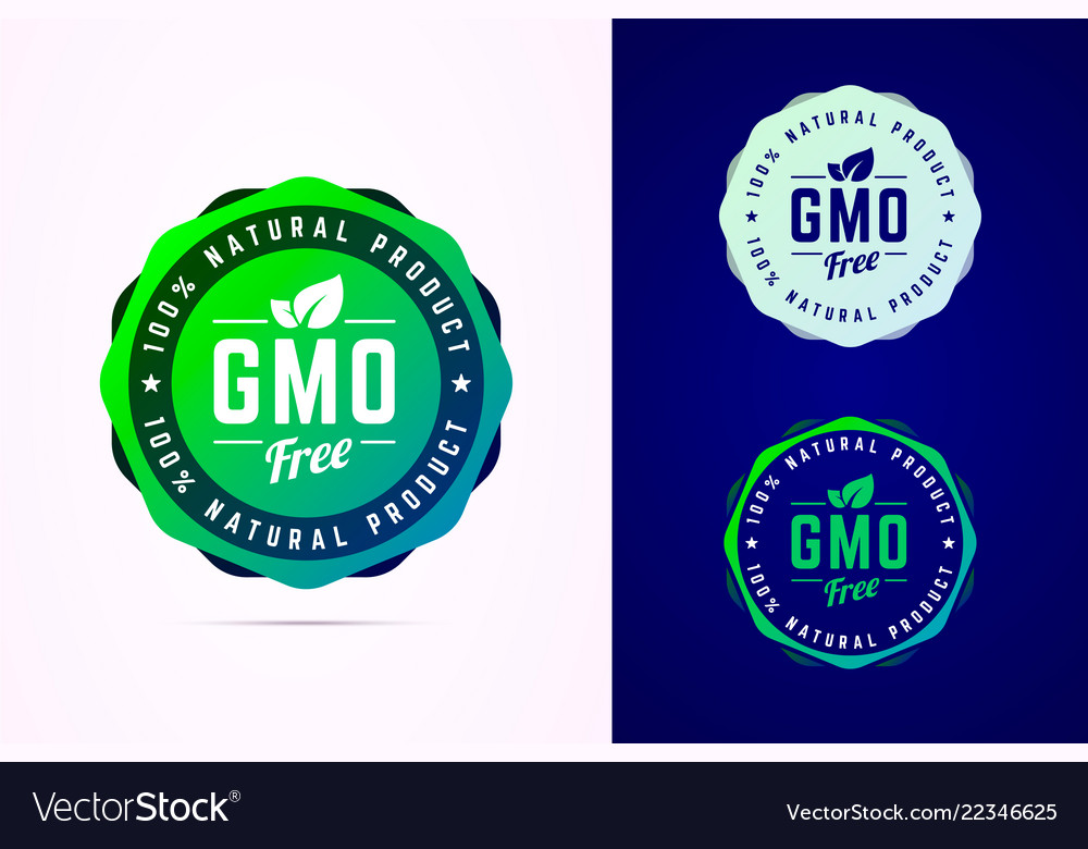 Gmo free badge for natural product