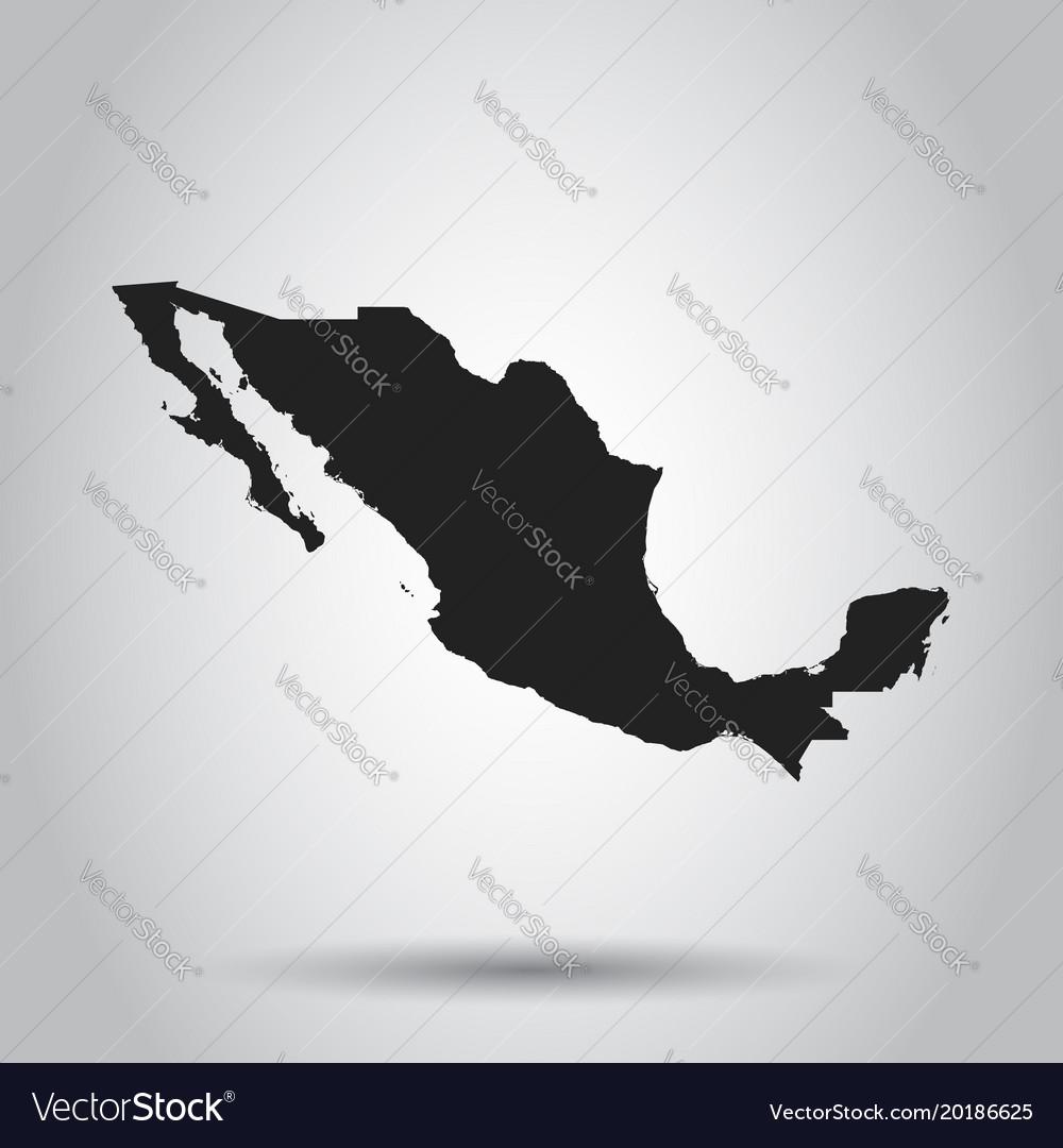 Mexico map black icon on white background
