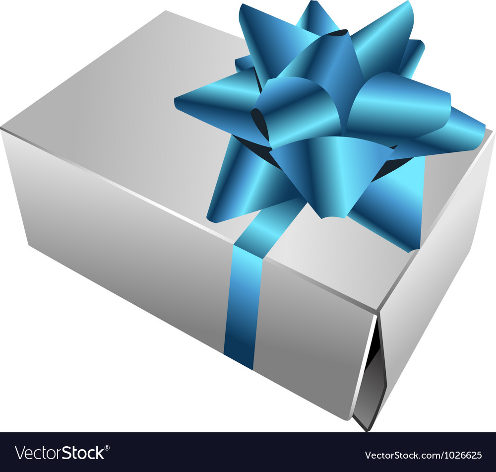 Realistic gift box with bow