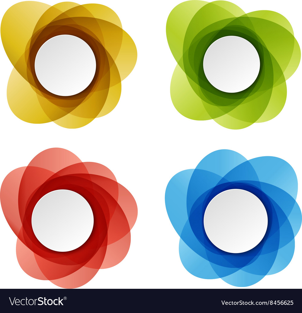 Set of round colorful shapes