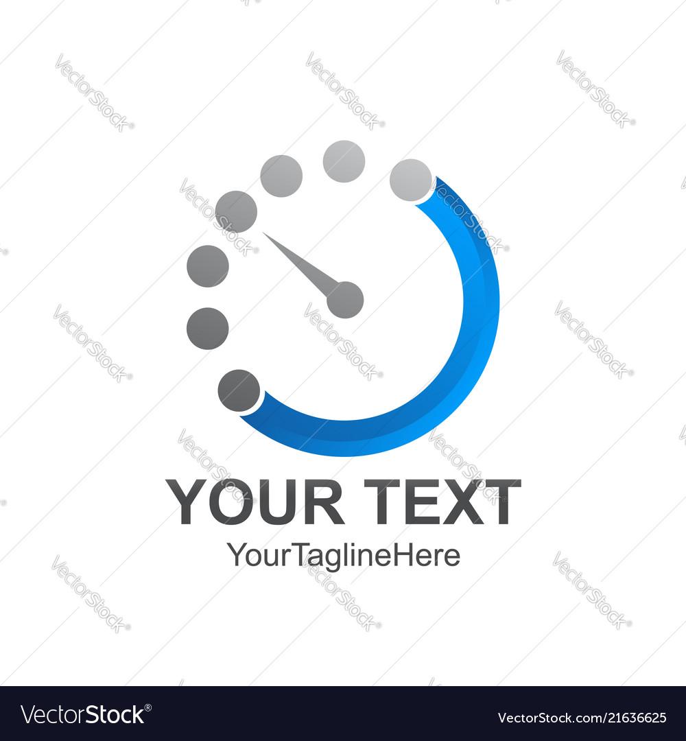 Time left logo design template element