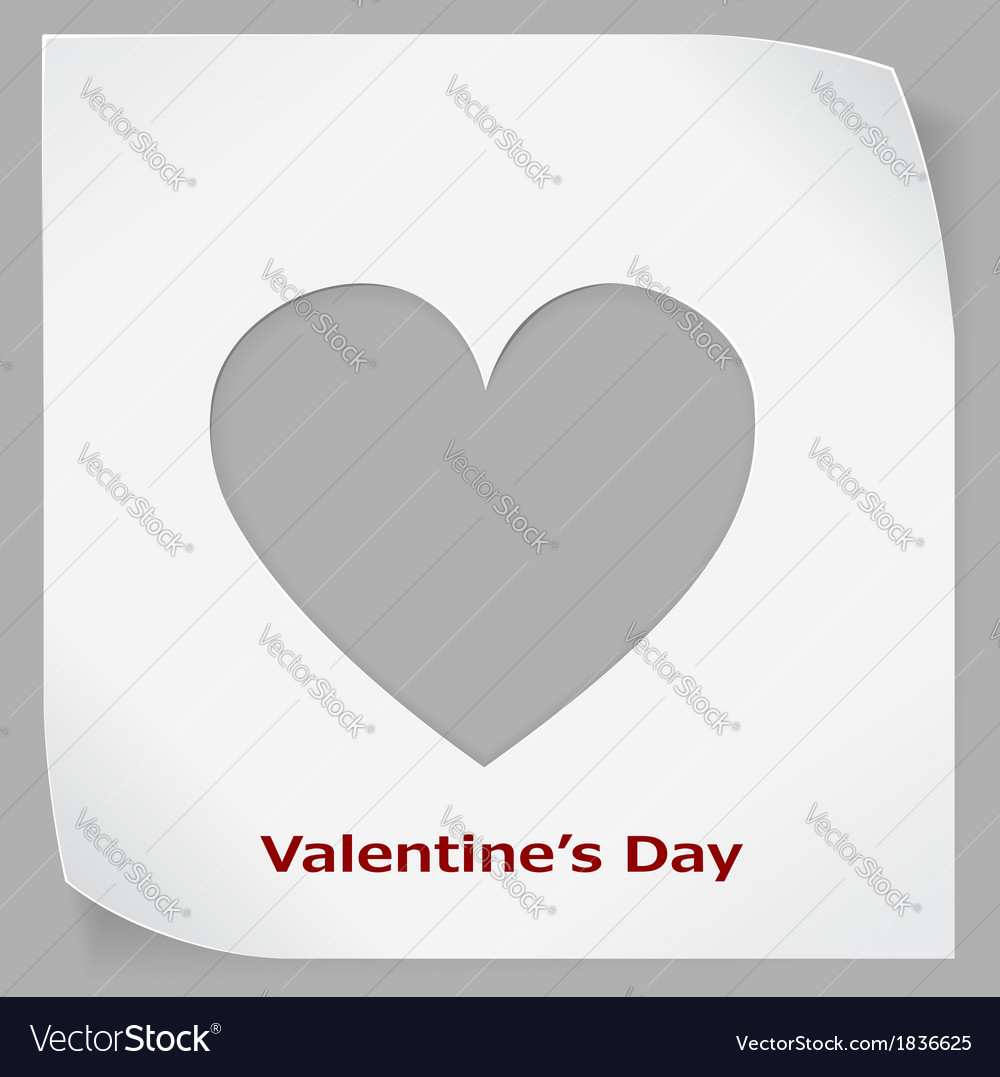 Valentines Day paper sticker