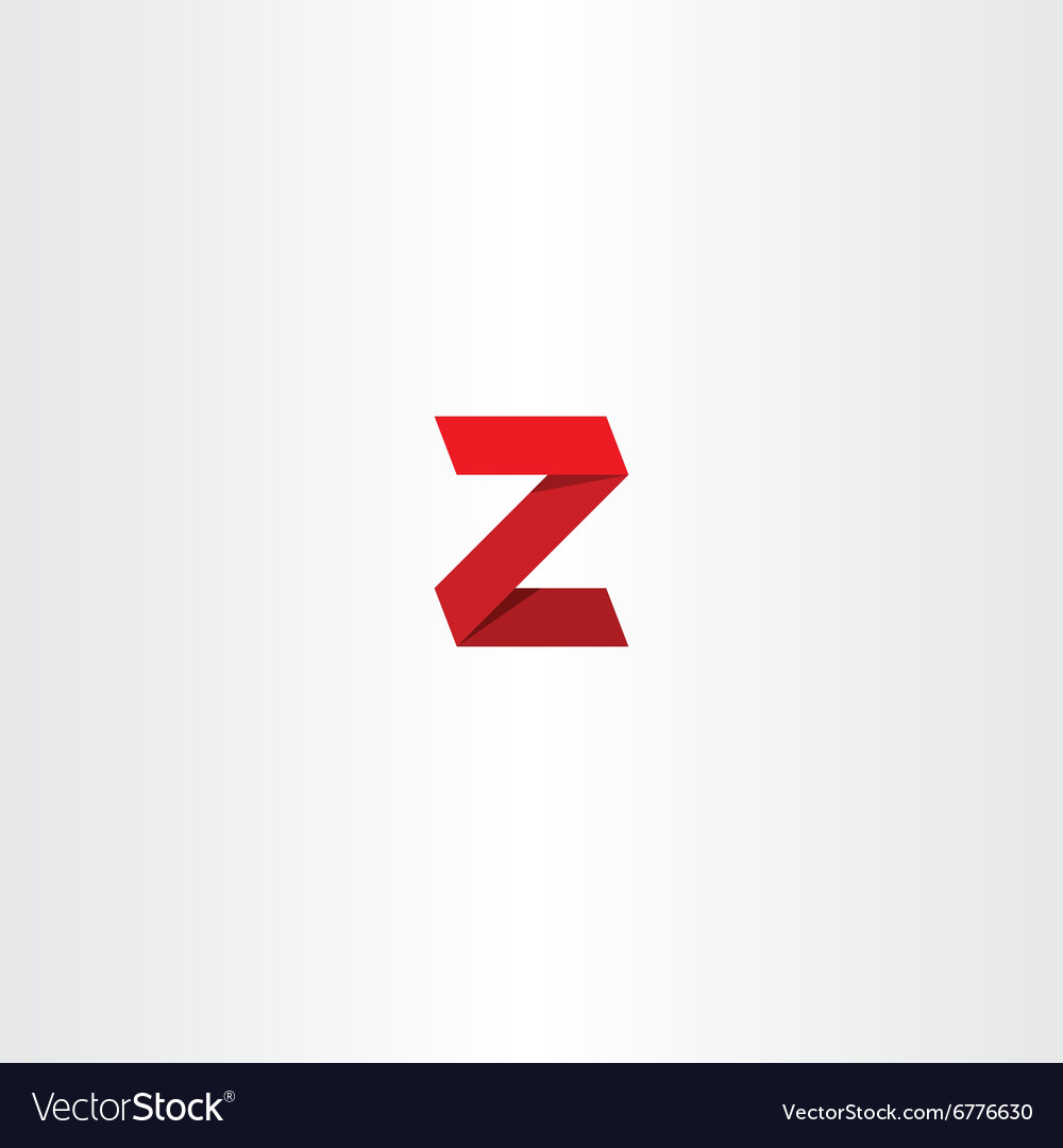 3d red logo letter z sign icon