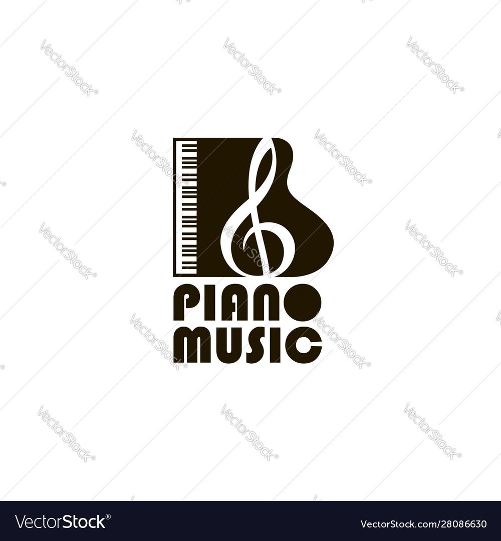 Abstract piano image