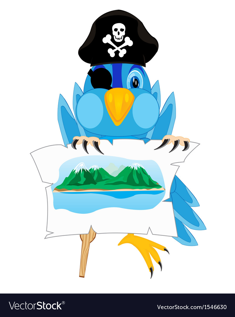 Bird pirate vector image