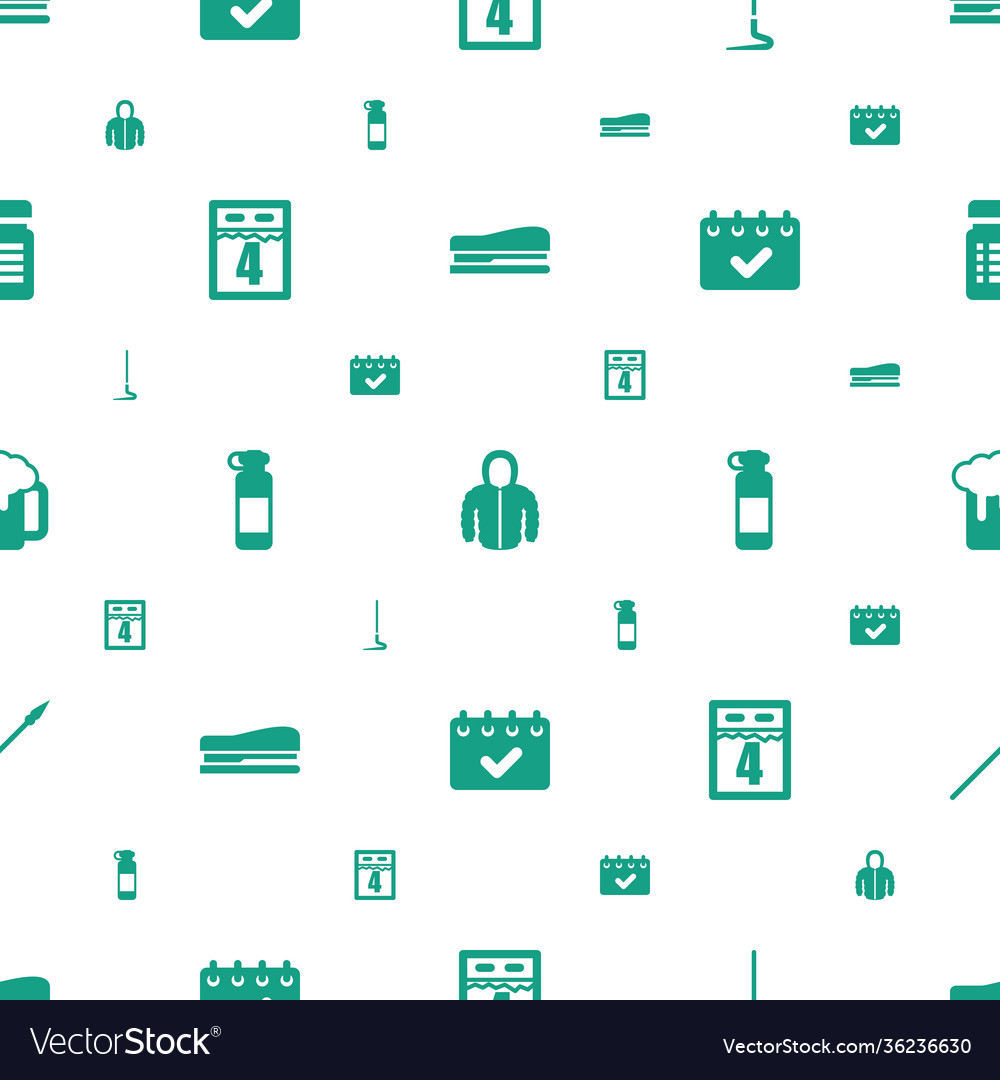 Long icons pattern seamless white background