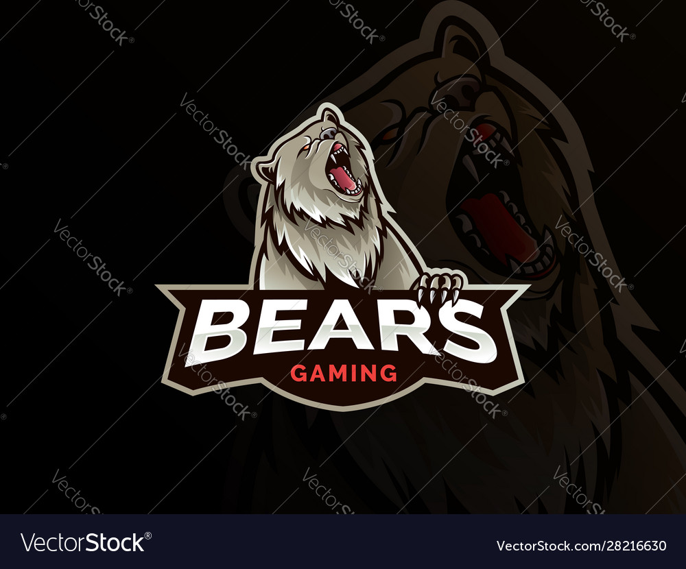 Modern professional grizzly bear logo for a sport
