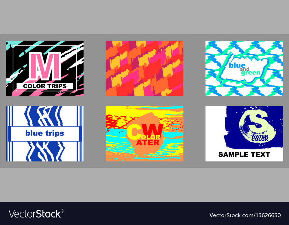 Set of artistic creative cards vector image