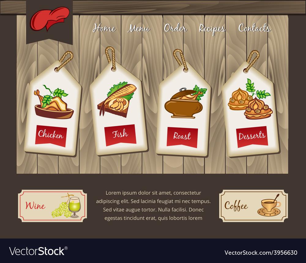 Template for food menu