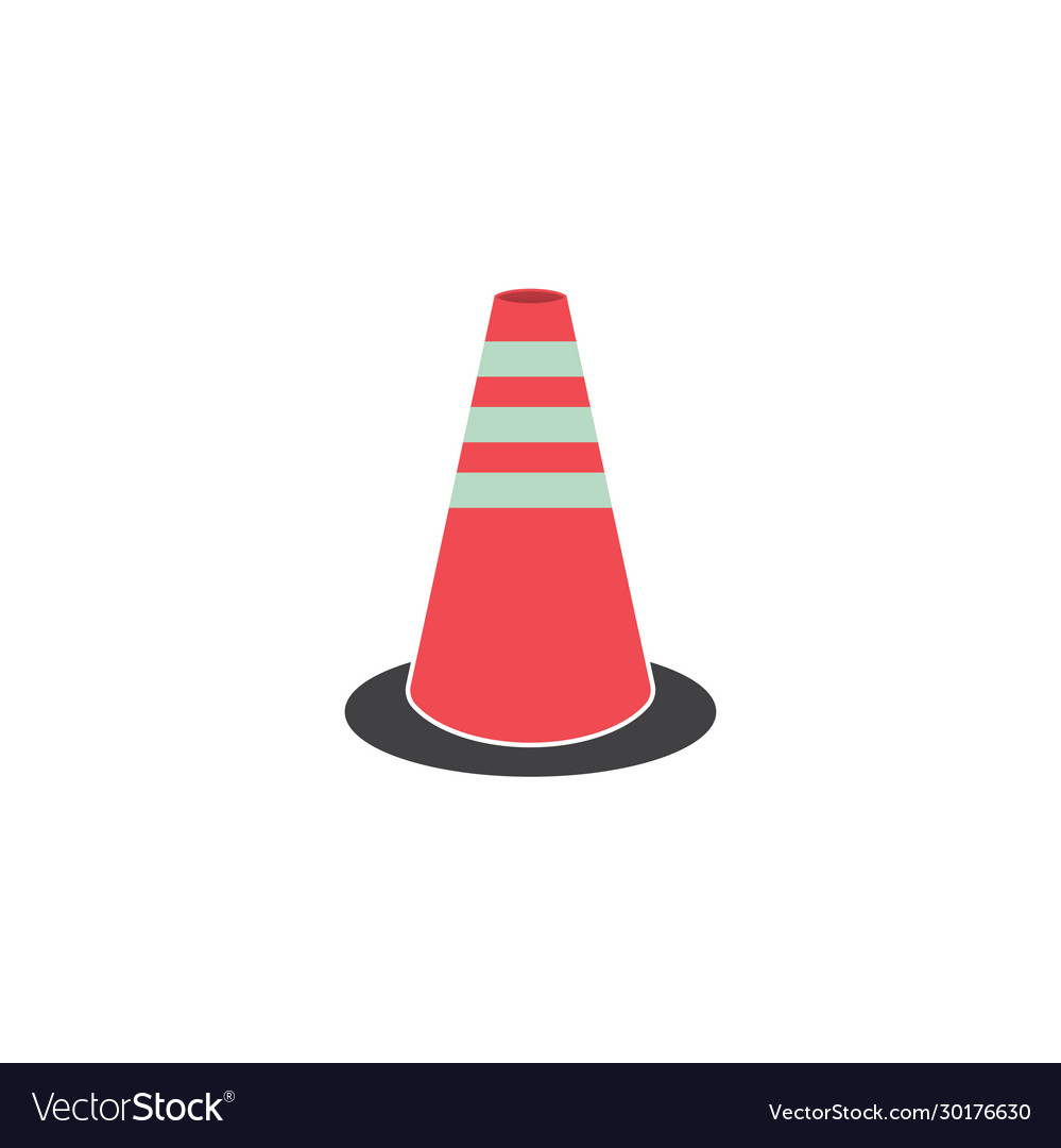 Traffic cone road graphic design template isolated