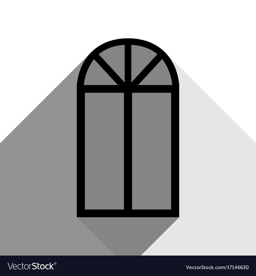 Window simple sign black icon with two
