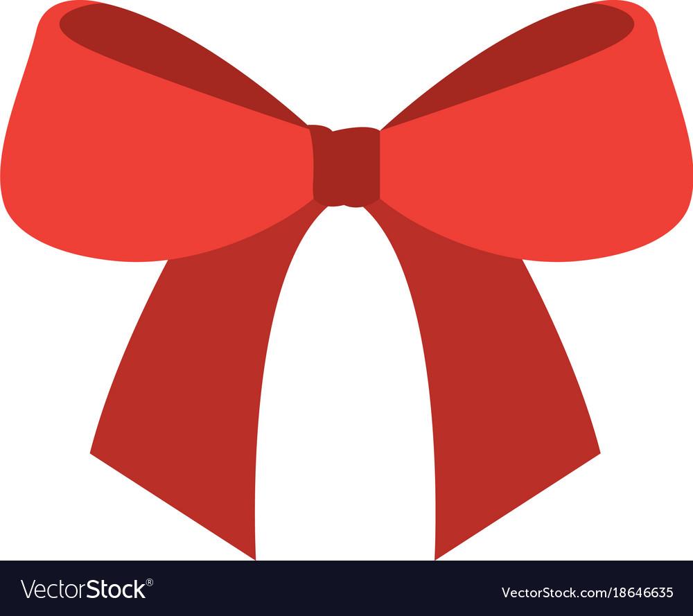 Christmas Bow Ribbon Decoration Ornament Vector Image