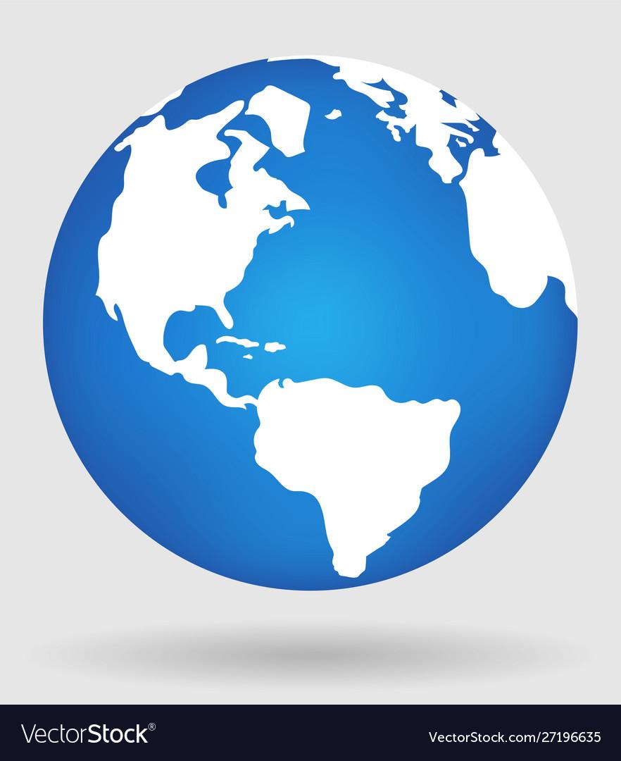 Earth globe flat planet icon