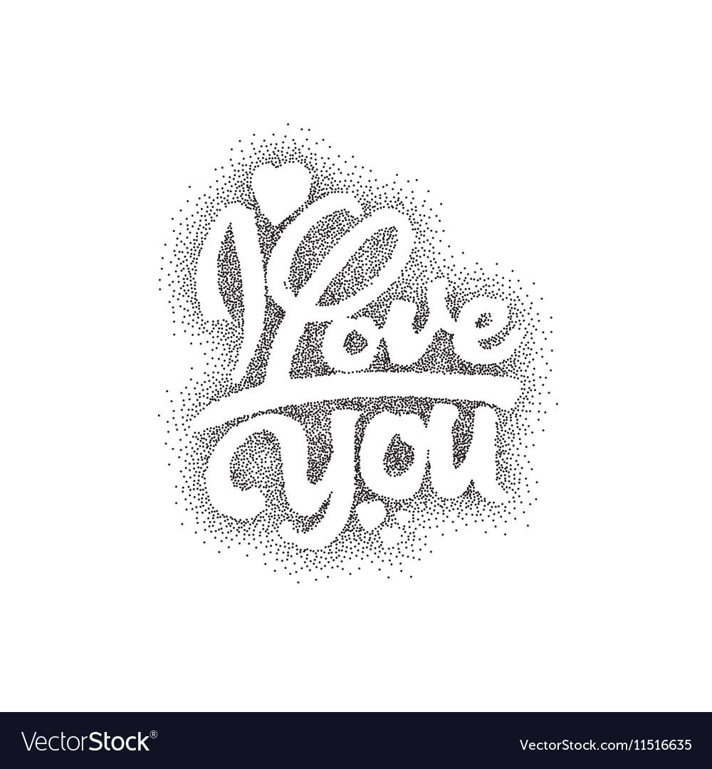 I love you Hand-lettering text Handmade