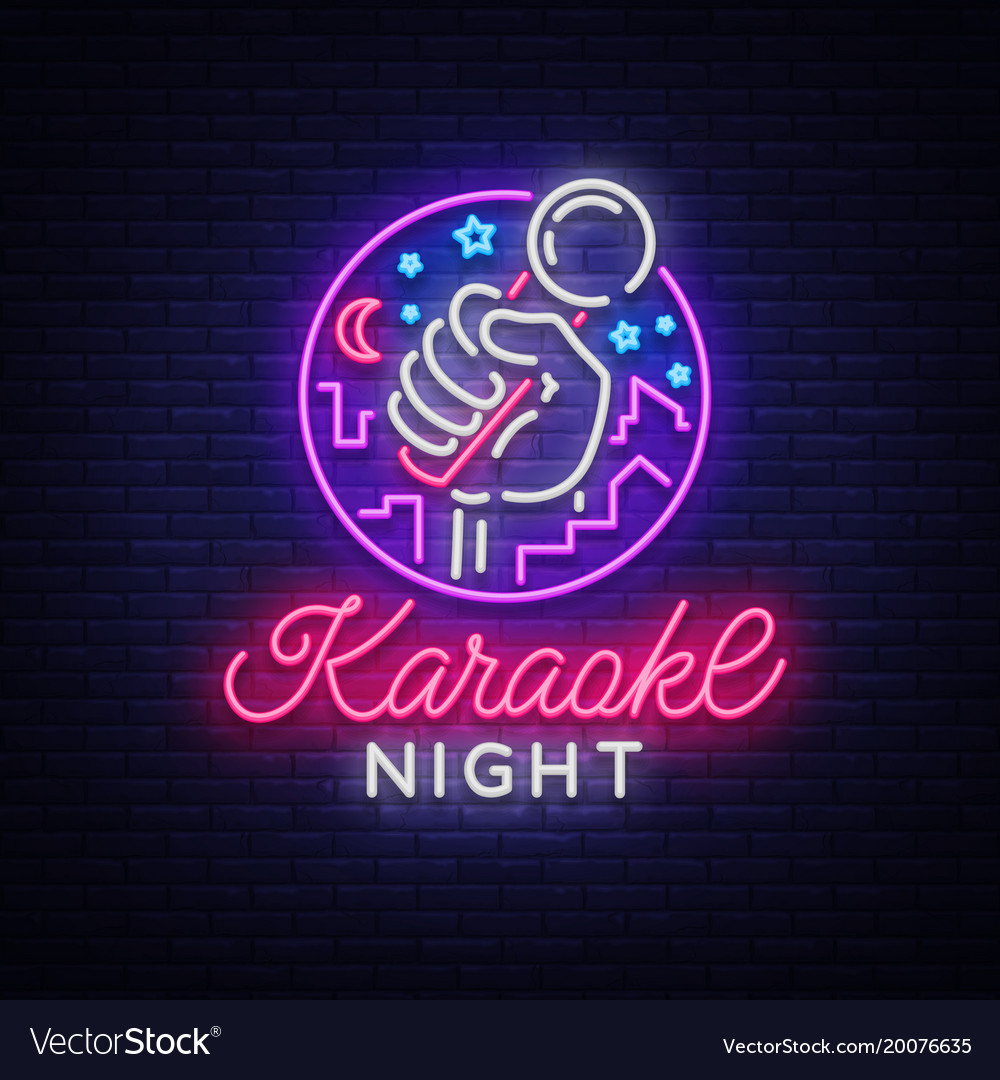 Karaoke night neon sign luminous logo royalty free vector karaoke night neon sign luminous logo vector image thecheapjerseys Gallery