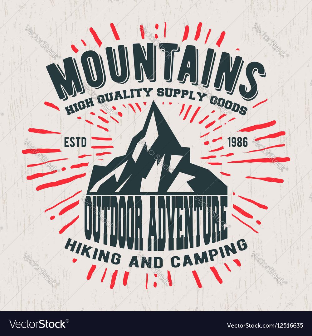 Mountains vintage stamp