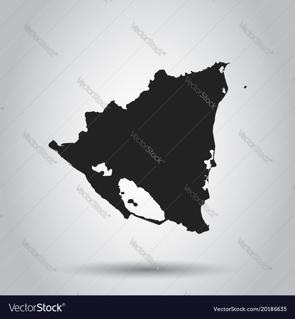 Nicaragua map black icon on white background vector image gumiabroncs Images
