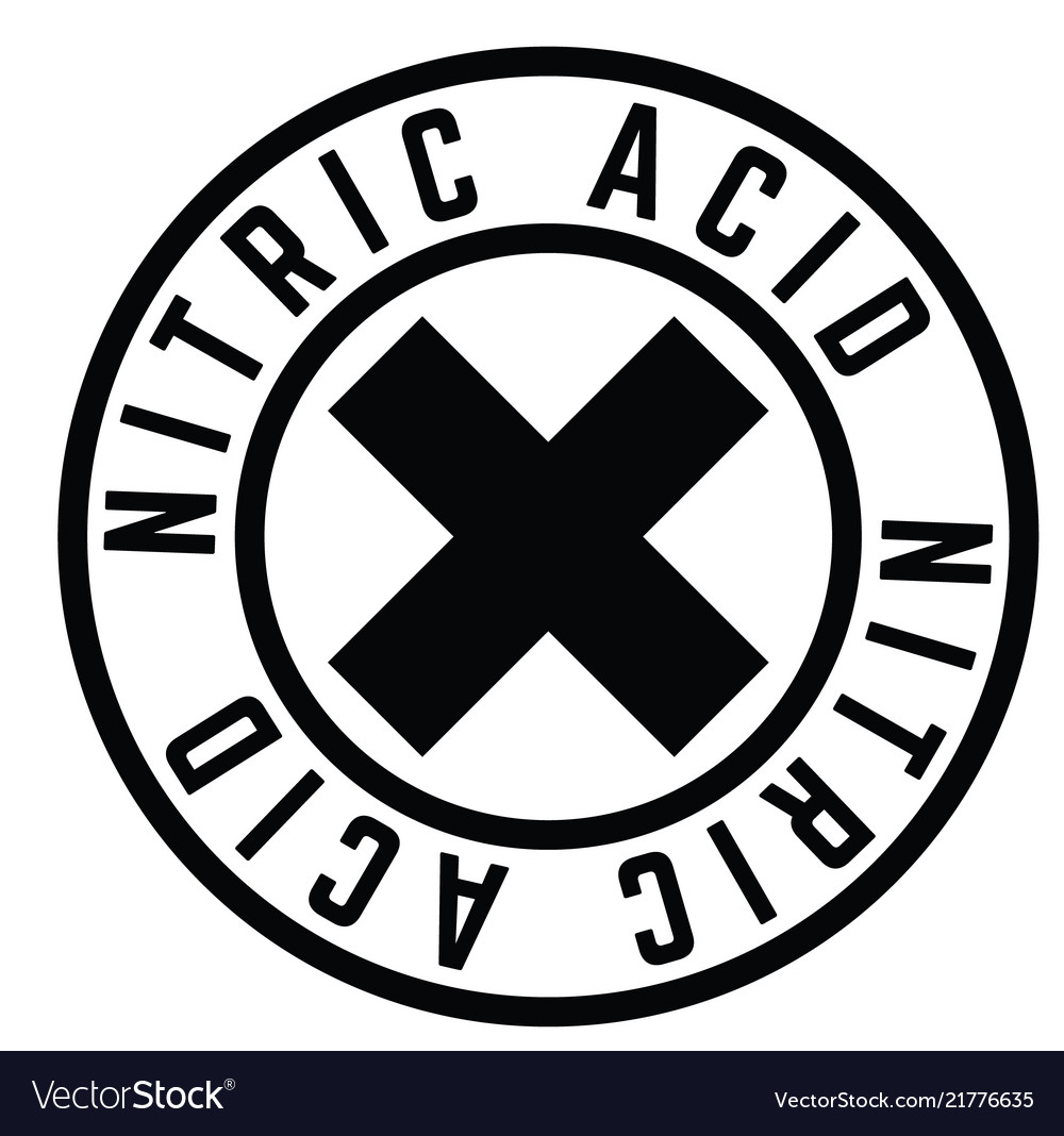 Nitric Acid Stamp On White Royalty Free Vector Image