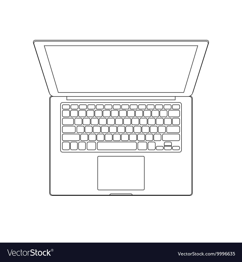 Outlined laptop