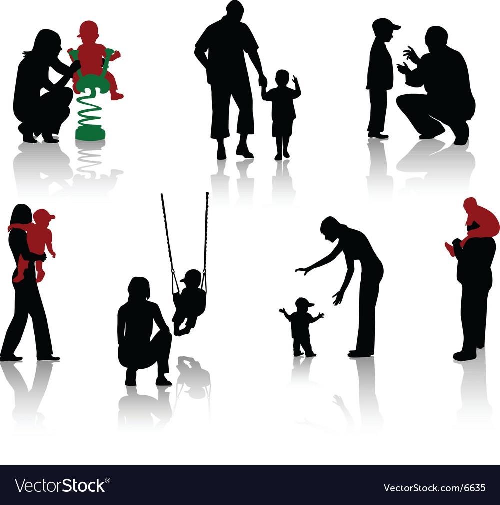 Parents vector image