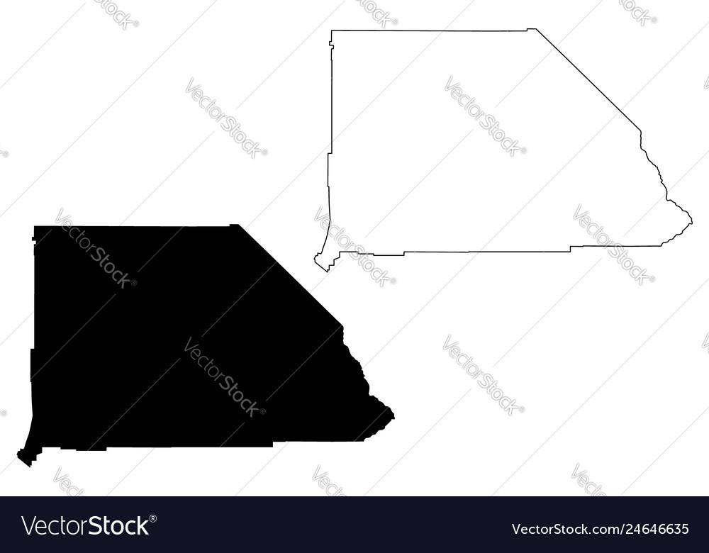 San bernardino county california map Royalty Free Vector on