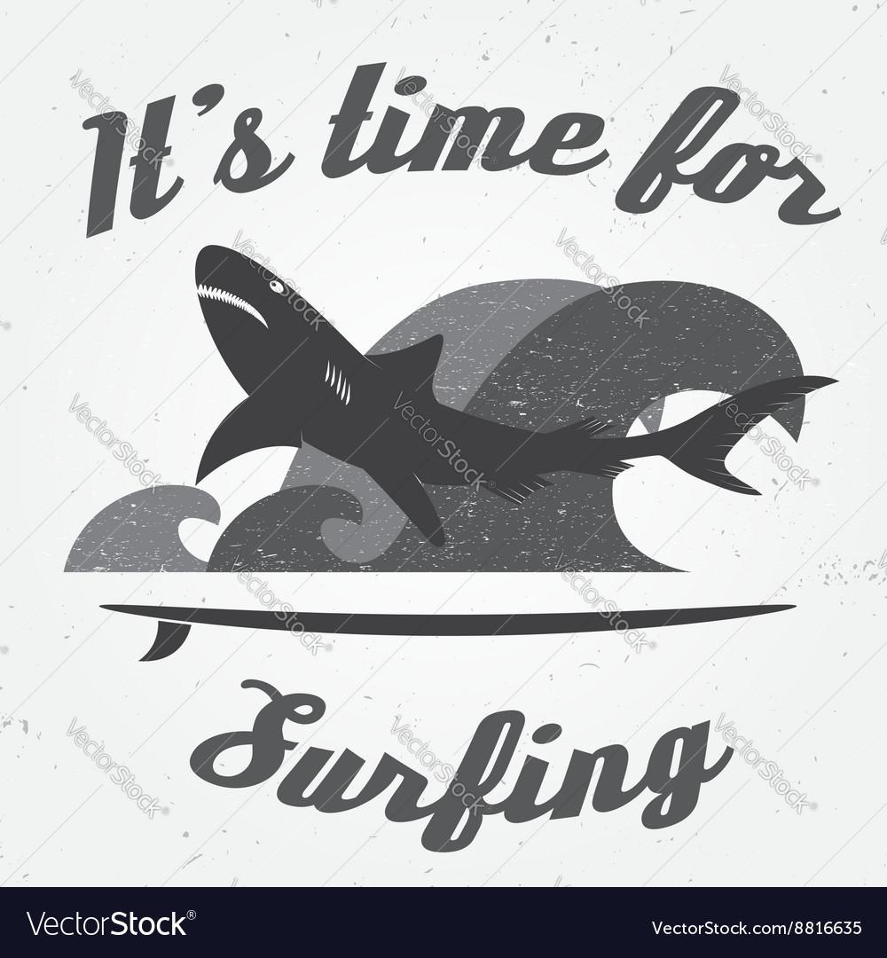 Set of Vintage Surfing Graphics and Emblem for web vector image