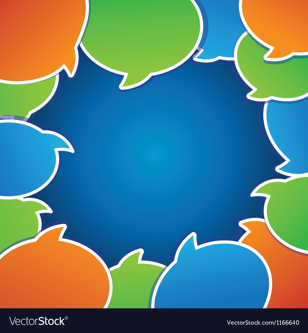 Abstract background with speech bubbles
