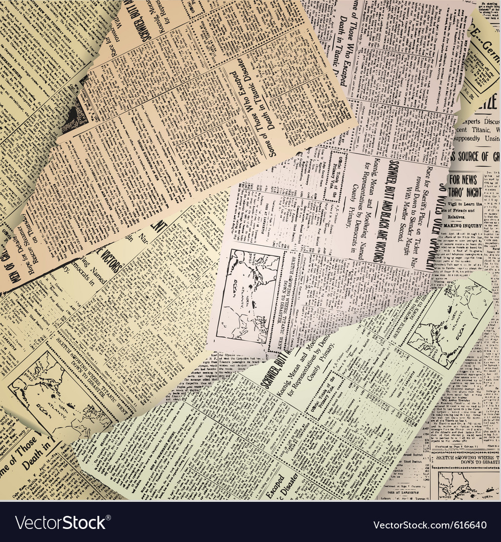 Abstract old newspaper vector image
