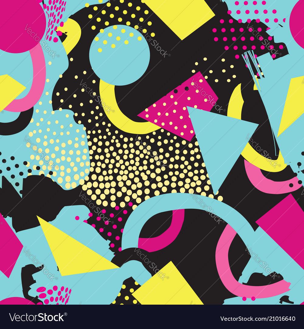 Abstract seamless pattern blots dots geometric
