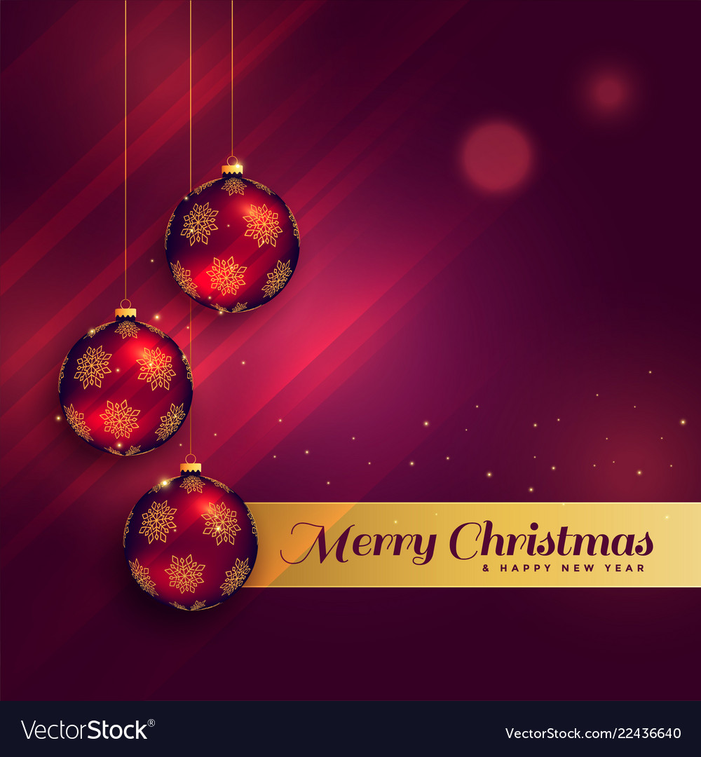 Beautiful Christmas Festival Greeting Card Design