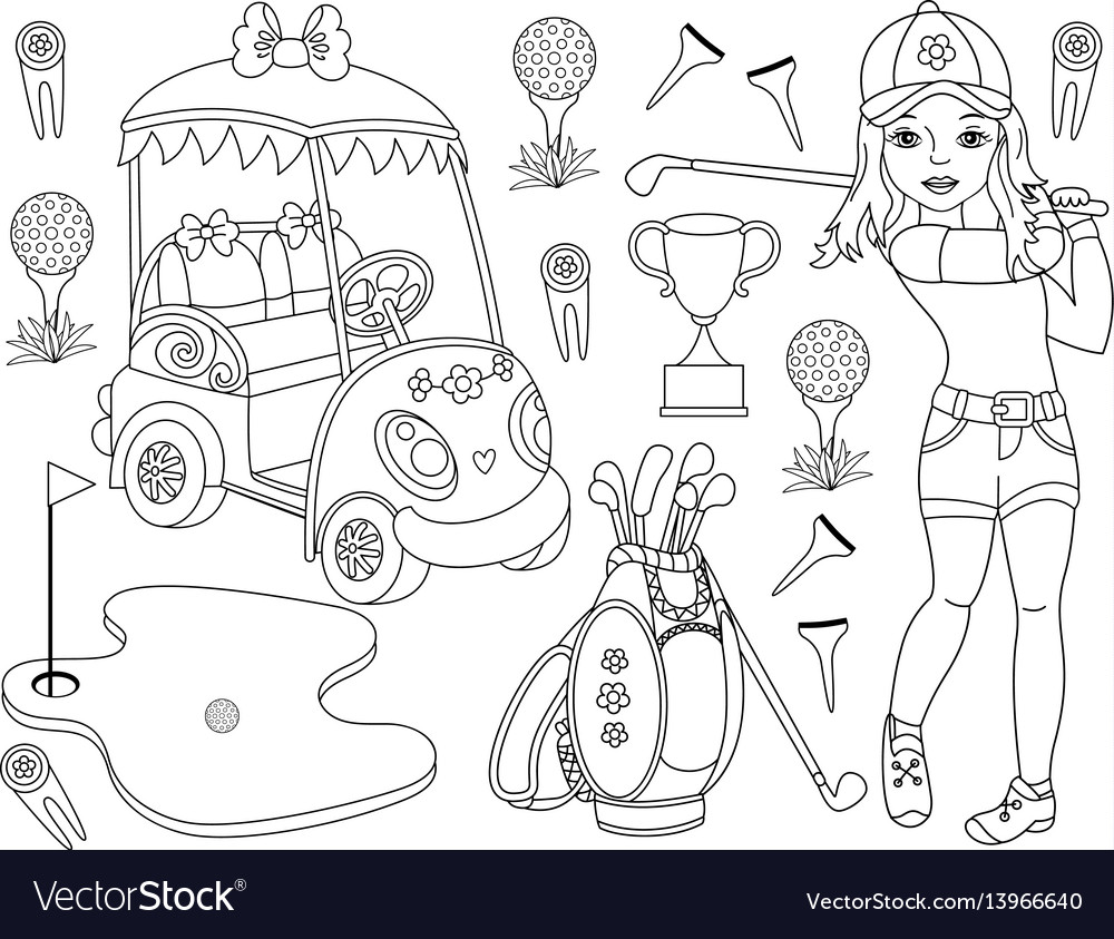 Black and white golf set
