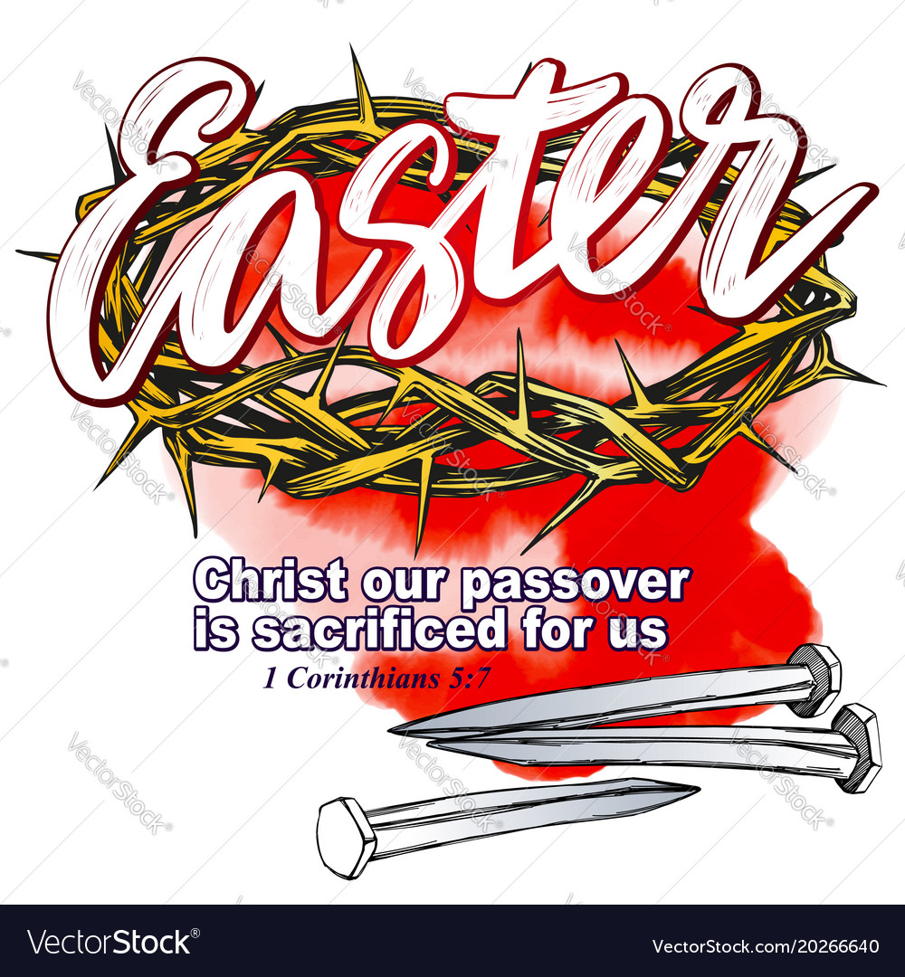 Crown of thorns nails easter religious symbol of