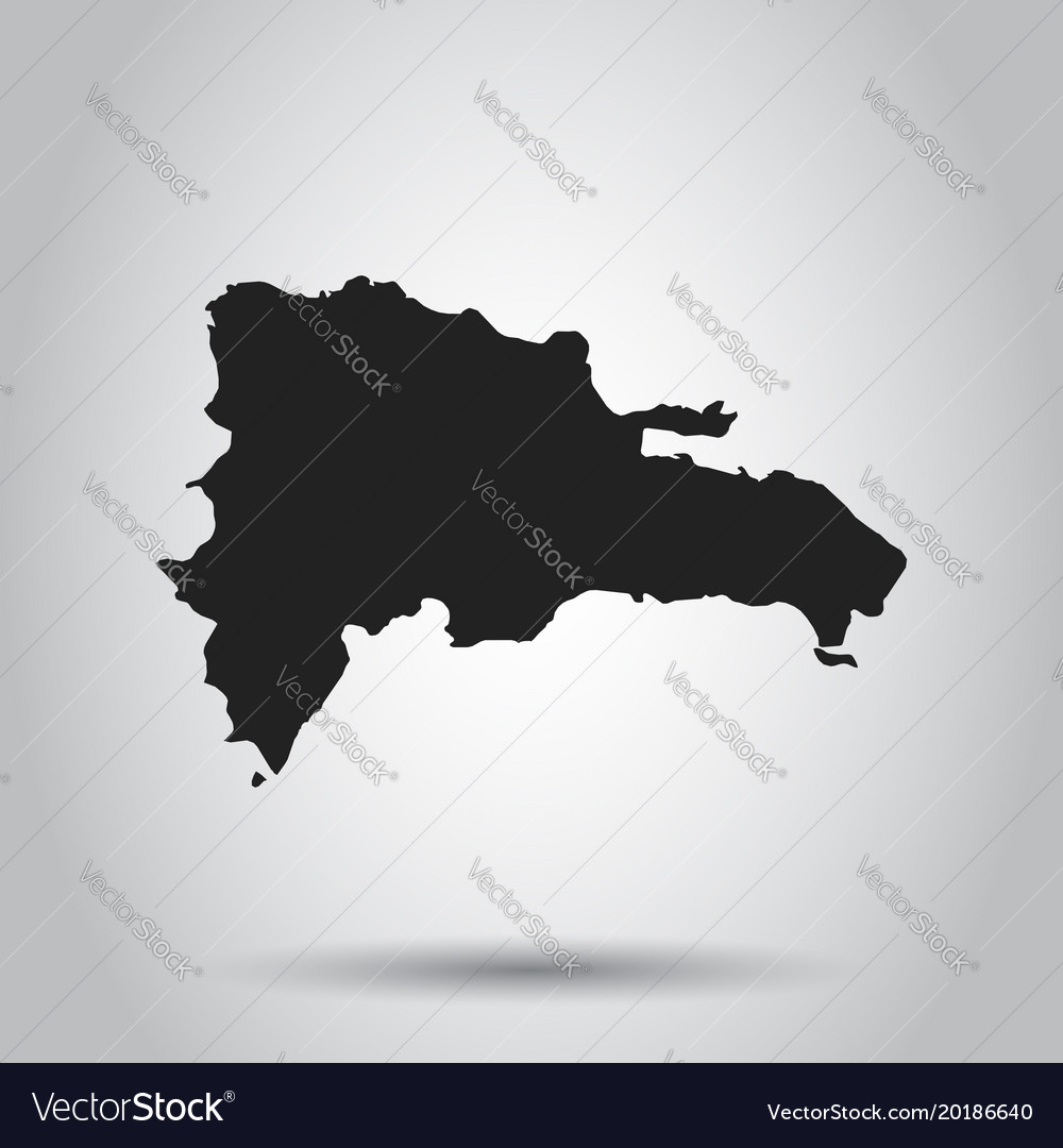 Dominican republic map black icon on white vector image gumiabroncs Images