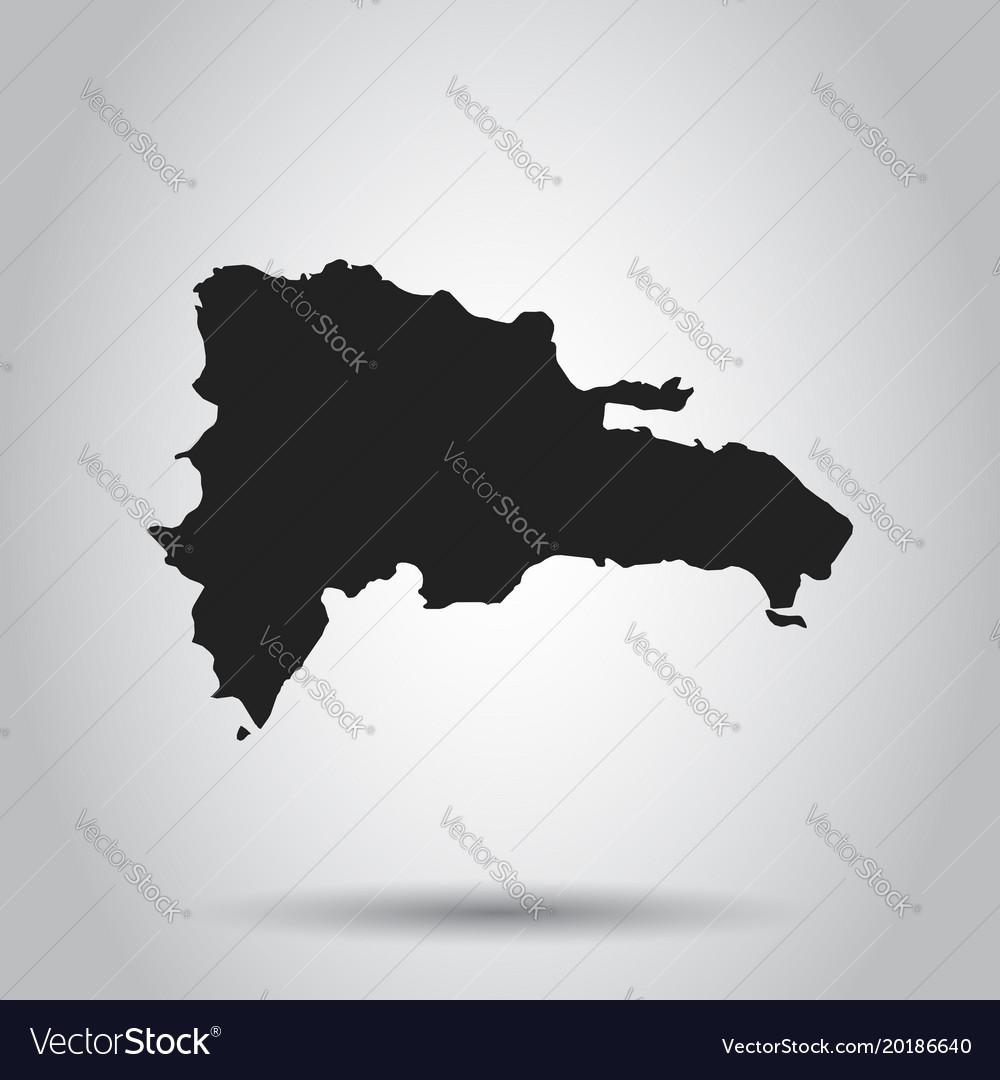 Dominican republic map black icon on white