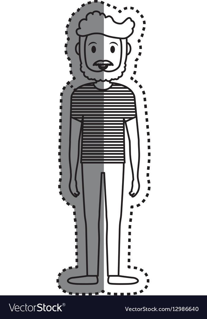 Man cartoon isolated