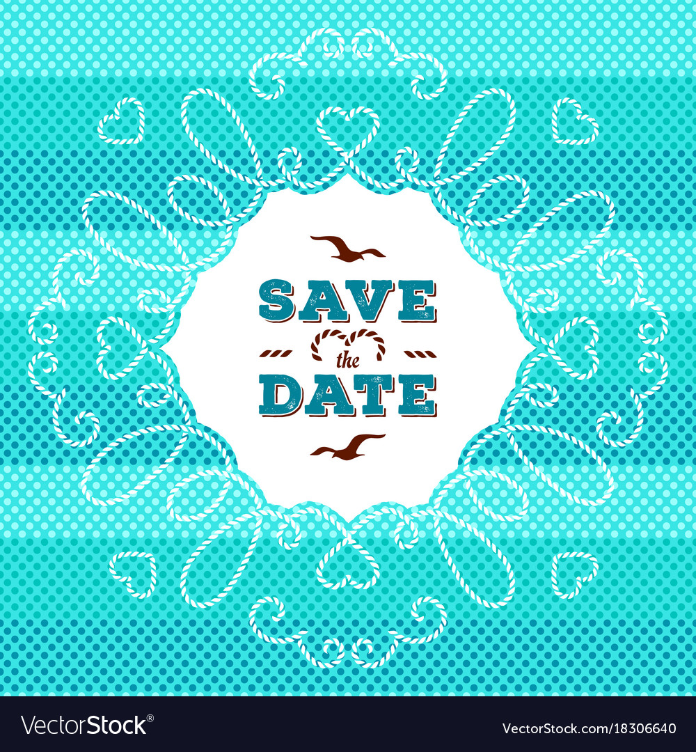 Marine save the date card wedding invitation