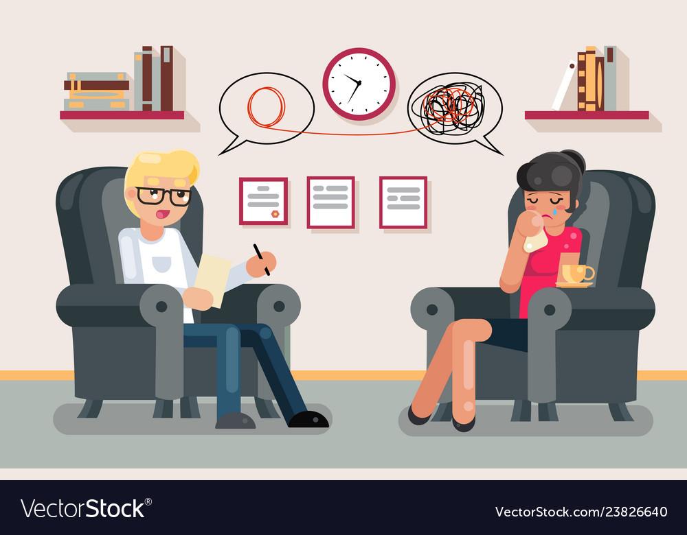 Psychologist consultation solving mental problems