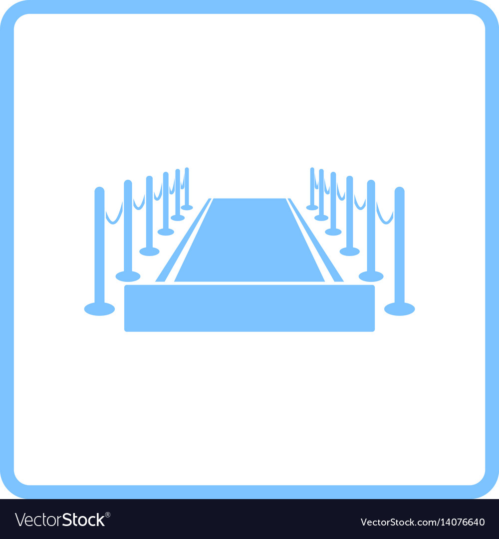 Red carpet icon vector image