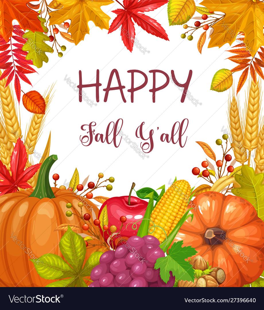 Seasonal fall banner