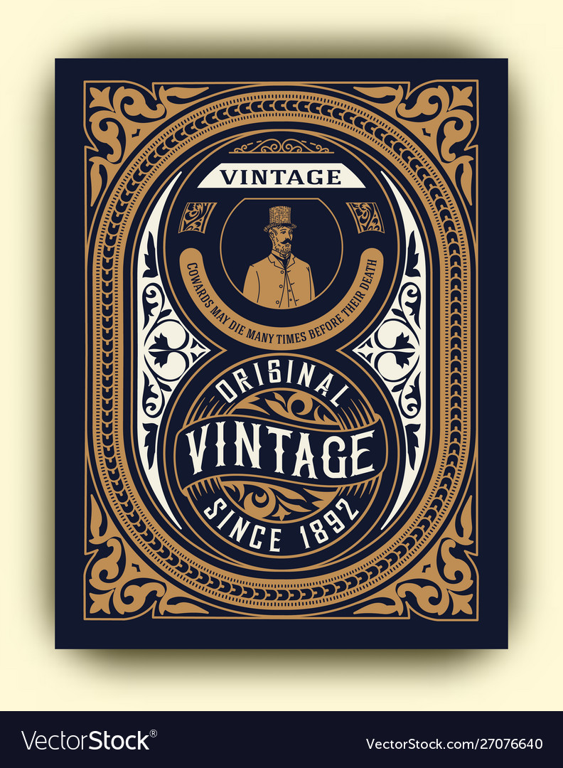 Whiskey design for card and packaging