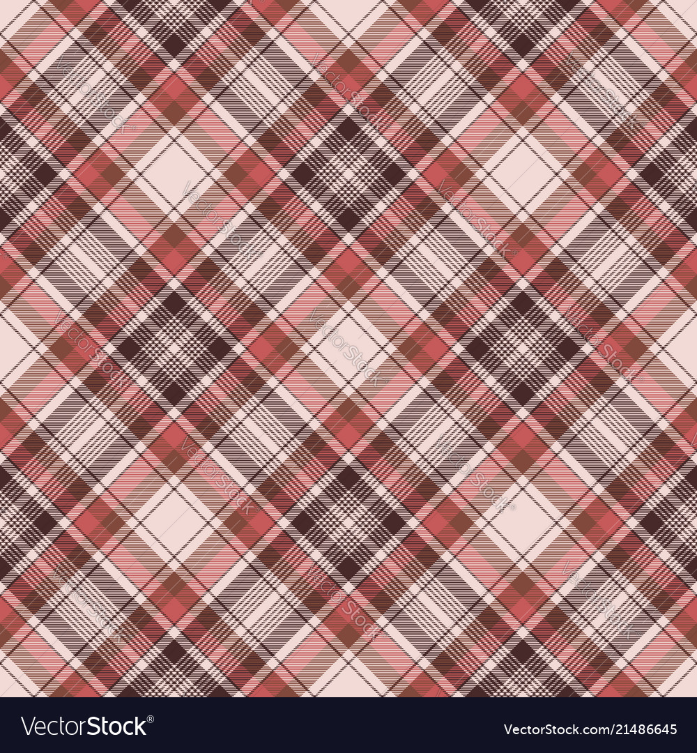 Brown traditional plaid fabric texture seamless